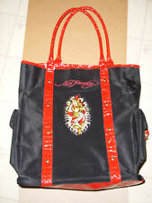 ba699b1843 Ed Hardy Black   Red Mermaid Tote Bag Handbag Purse Large