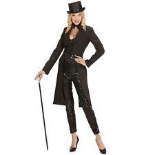 DAMEN FRACK L (42/44) Showfrack schwarz lang Kostüm Revue Theater Show #9013