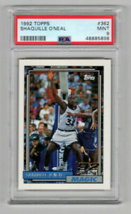 1992 Topps Shaquille O'Neal RC #362 Rookie PSA 9 Mint 5898