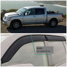 NE18504 Window Visors Sun Guard Vent Wide Deflectors For Nissan Titan 03-15