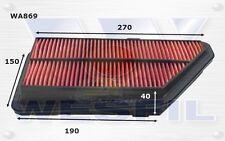 WESFIL AIR FILTER FOR Honda Integra 1.8L 1992-1999 WA869