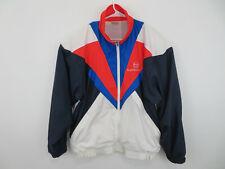 Vintage 80s 90s Sergio Tacchini Nylon Windbreaker Sz 42 L Zip Jacket Color Block