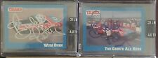 """2-Richard Petty Signed 1991 Traks Card """"The Gang's All Here"""" #6 & """"Wide Open"""" #2"""