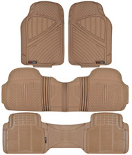 MOTOR TREND Max-Duty Van Truck 3 ROW Floor Mats Odorless Beige All Weather 4-PC