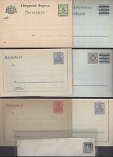 GERMANY 1880's 1920's COLLECTION OF 8 POSTAL STATIONARY 4 LETTER CARDS 4 CARDS