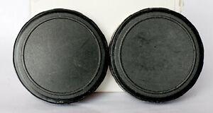 Pair of unbranded 52mm binocular caps.