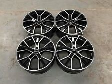 "18"" RS6 Performance Style Alloy Wheels Gloss Black Machined AUDI A4 A6 A8 5x112"