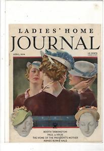 APRIL 1934 LADIES' HOME JOURNAL LADIES HATS BOOTH TARKINGTON AD PRINT K727