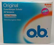 O.B. Original Tampons Curved Grooves SUPER OB For Moderate Flow Days - 48-Pack