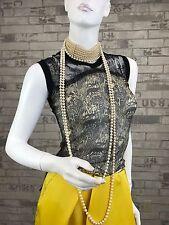 Auth $790 New JPG Jean Paul Gaultier Runway Shirt Top Blouse 4 6 US 40 42 IT S