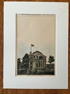 Peoples Bank, Broadway & Greene, Brooklyn, NY, 1898, Original Hand Colored