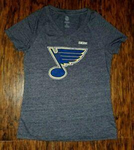 Womens CCM St. Louis Blues Hockey Shirt Extra Large XL Navy