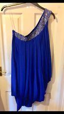 Ladies Lipsy Blue One Shoulder Dress Size 12