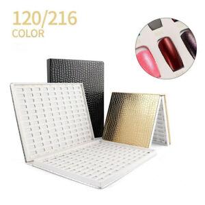 120/216  Nail Tips Colour Chart Display Book For UV Gel Polish Nail Art Tools