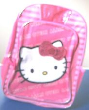 Hello Kitty Backpack Pink School Book Bag New NWT