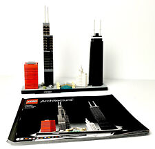 LEGO Architecture 21033 - Chicago | 100% Complete w/ Instructions