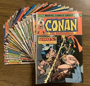23 Lot Conan the Barbarian #51-108 Mid-Grade Bronze Age Comic Marvel