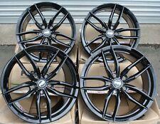 "17"" BLACK IOTA RS ALLOY WHEELS FITS BMW 5 + 8 SERIES E12 E28 E34 E39 E60 E61 E31"