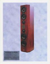 Grande La Folia Original Spec SheetSpeaker Brochure by Silverline