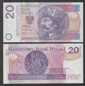Poland - P#184b 20 Polish Zloty 2016 (2017) Uncirculated Banknote.
