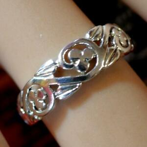 second hand sterling silver lucky clover ring
