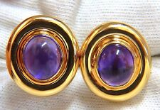 12.00 Natural Amethyst Clip Earrings 14Kt