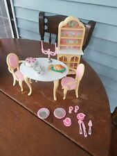 BARBIE DINING ROOM PLAYSET 4 FOLDING PRETTY HOUSE MATTEL