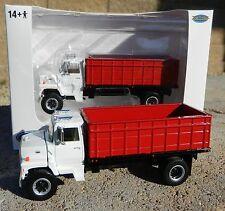 NEW 1:64 Top Shelf Replicas *WHITE &  RED* Ford L9000 GRAIN TRUCK HAULER DCP NIB