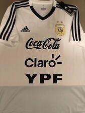 RARE Adidas AFA 2018 Argentina MEDIUM Training Shirt WHITE