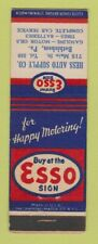 Matchbook Cover - Esso oil gas Hess Auto Supply Bethlehem Pa Wear