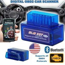 ELM 327 Car Bluetooth OBD2 Scanner Code Reader Automotive Diagnostic OBDII Tool