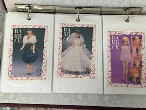 Vintage 136 Barbie Mattel Trading Cards Fashion Facts 1959 through 1989