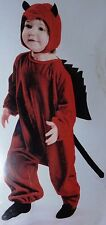 PINT SIZED DEVIL VELOUR HALLOWEEN COSTUME BABY INFANT CHILD TODDLER SIZE 6-12 MO