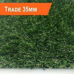 TRADE 35MM ARTIFICIAL GRASS FAKE GARDEN LAWN EASY FIT QUALITY REALISTIC GRASS
