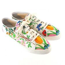 Vintage Gucci Italy 36 Us 6 Floral Pattern Canvas Rare Sneakers Shoes.Nfv4800