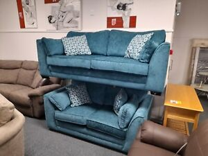 Isla blue 3 seater and 2 seater sofas. Ex ScS stock