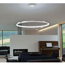 Lámpara de Techo Colgante Araña de Cristal Elegante Blanco Ring Iluminación Luz