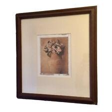 M&S Wood Framed White Floral Print Artwork By Deborah Schenck 41 X 44cm RP £45