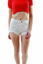 Free People Women's Authentic Jeans Mini Short White Size W 26 RRP £ 65 BCF66
