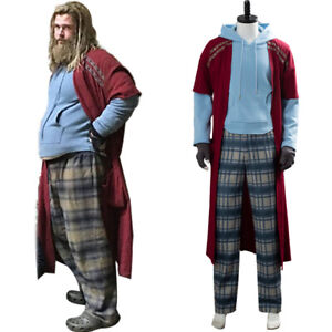 Avengers 4 Endgame Fat Thor Cosplay Costume Outfit Pants Hoodie Full Set 4XL