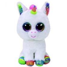 "6"" TY Beanie Boos Glitter Eyes Pixy Rainbow Unicorn Plush Stuffed Toy Kid Gifts"