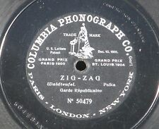 """78 RPM 25 cm 10 """" Garde républicaine Zig Zag Columbia Phonograph 50479 VG+/+"""