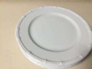"""NEW PILLIVUYT BAMBOO Set of FOUR (4) --- 11"""" Dinner Plates - FRANCE"""