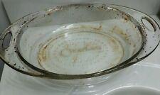 New listing Ovations Anchor Hocking Clear Glass 2 Qt Casserole Oval Baking Dish #201 Usa Euc