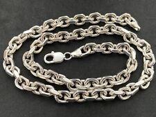 Sterling Silver Flat Edge Belcher Chain. UK Hallmark,   20.5 inch.