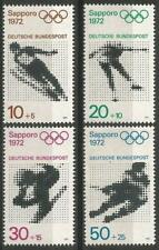 Germany (West) 1971 MNH Sports Winter Olympics Sapporo 1972 Ice-Hockey Skiing