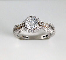 Silver Round Brilliant Cz Preset Setting 1.11 Ct Engagement Ring Solid Sterling