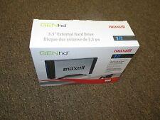 """New Maxell GENhd 1 TB PC MAC Compatible 3.5"""" External Hard Drive 665300 HD-1T"""