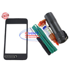 FREE SHIP for iPod Touch 3rd Gen Front Screen Digitizer w/ Frame+UV Glue ZVLT192
