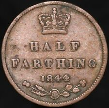 More details for 1844   victoria half-farthing   copper   coins   km coins